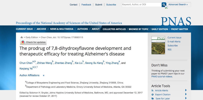 PNAS Published Online a Research Paper of Prof. Zhang Ying¡¯s Team